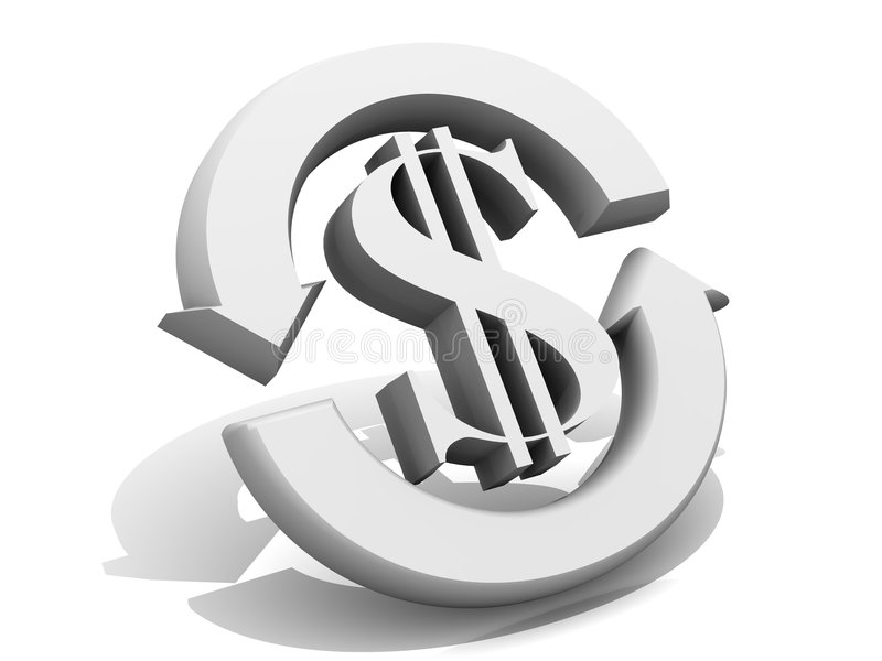valutadollarutbyte royaltyfri illustrationer