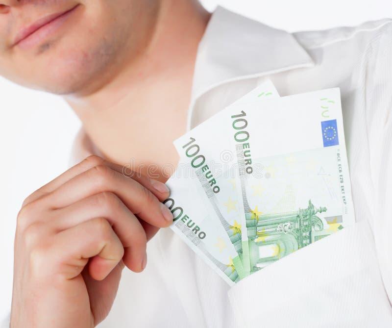 valutaeurofack royaltyfria bilder