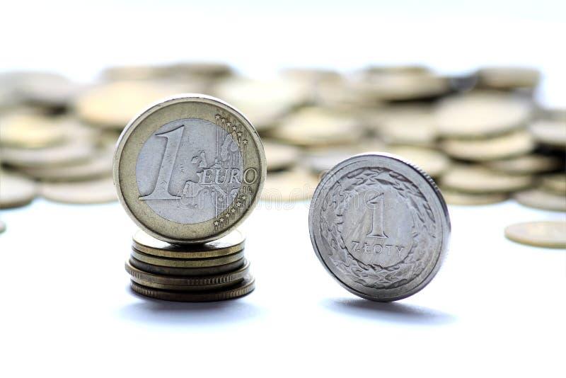 valutaeuropolermedel arkivfoton