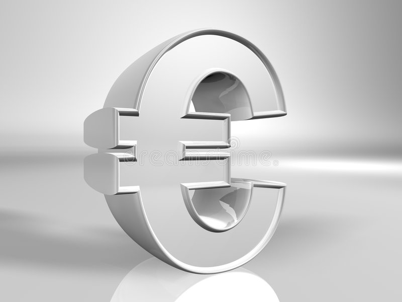 valutaeurotecken stock illustrationer