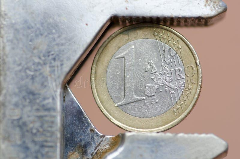 valutaeurotryck under arkivbilder