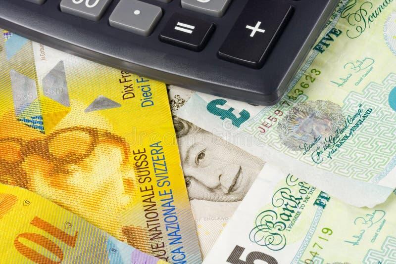 valutaforexschweizare uk royaltyfri bild