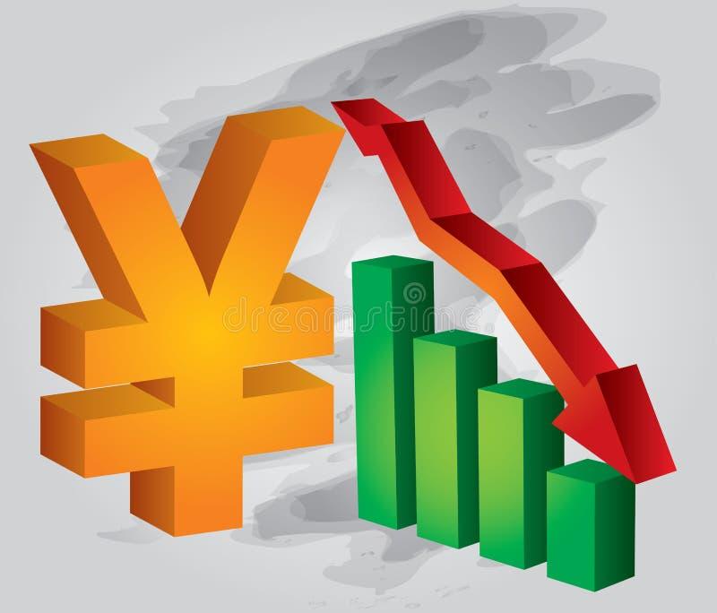valutakurs yuan vektor illustrationer