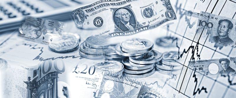 Valutakurser av olika valutor royaltyfri fotografi