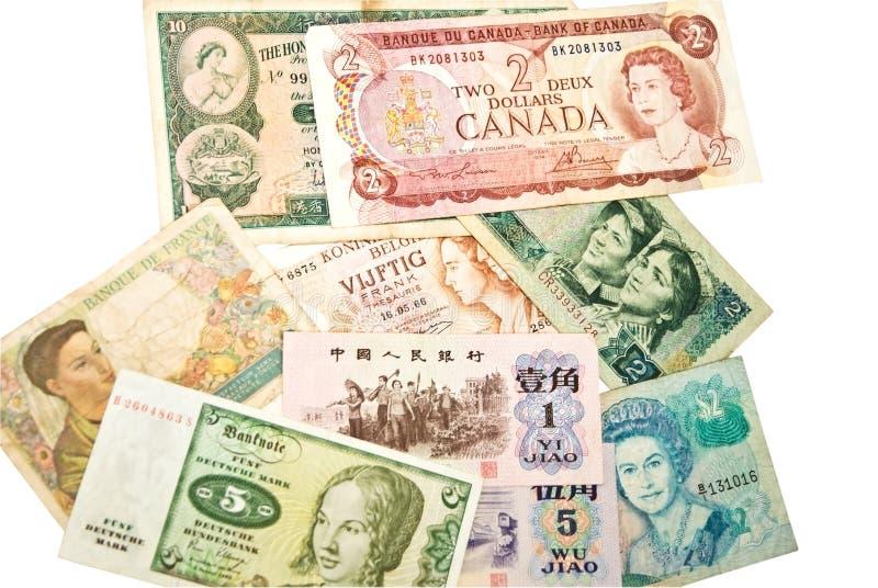 valutakvinnavärld royaltyfri fotografi