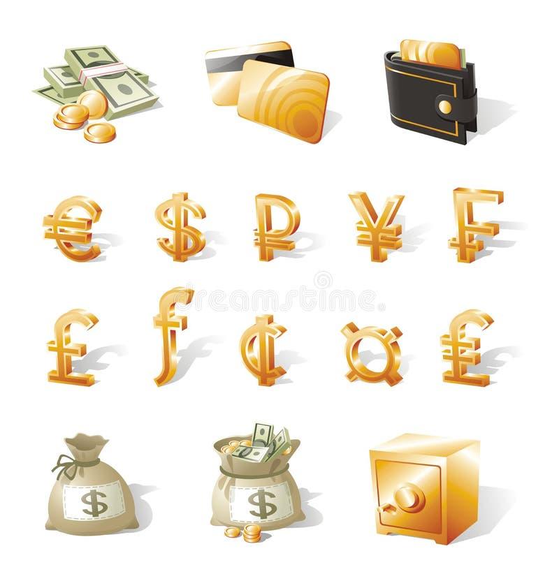 valutapengar royaltyfri illustrationer