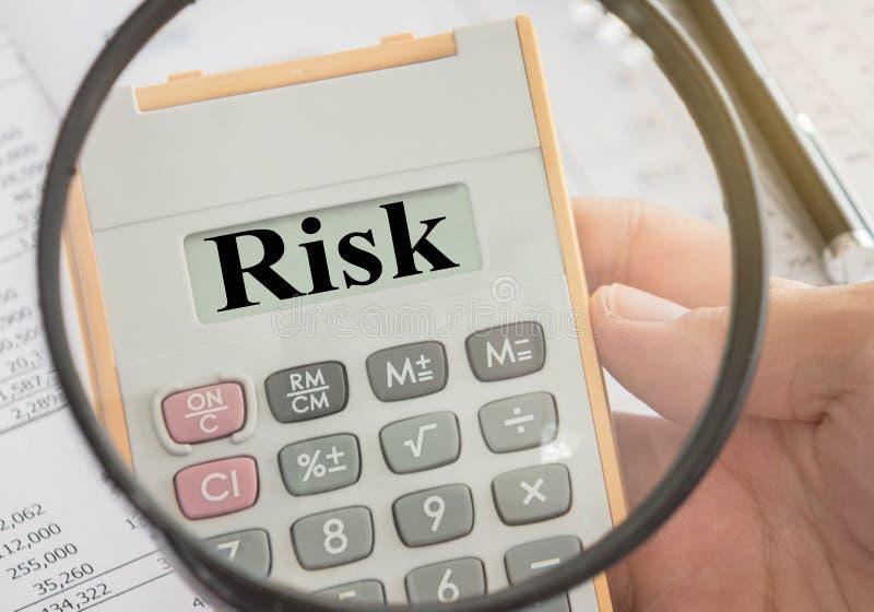 Valutazione del rischio immagine stock