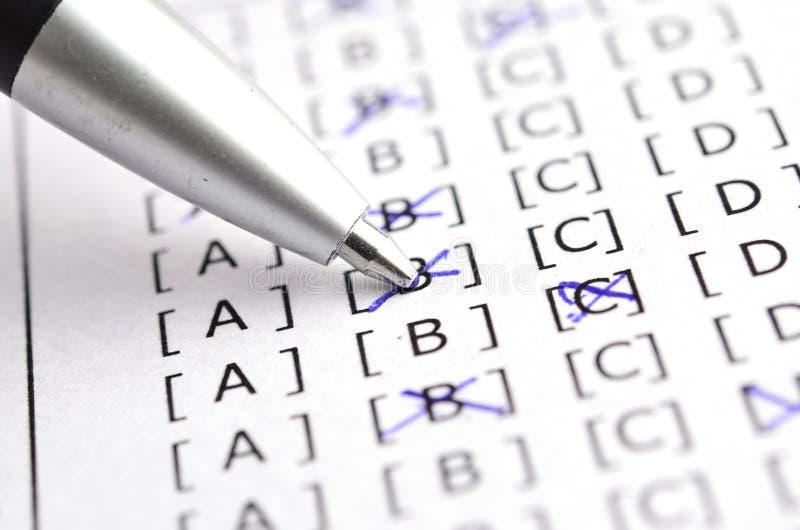 Valutazione del test fotografie stock