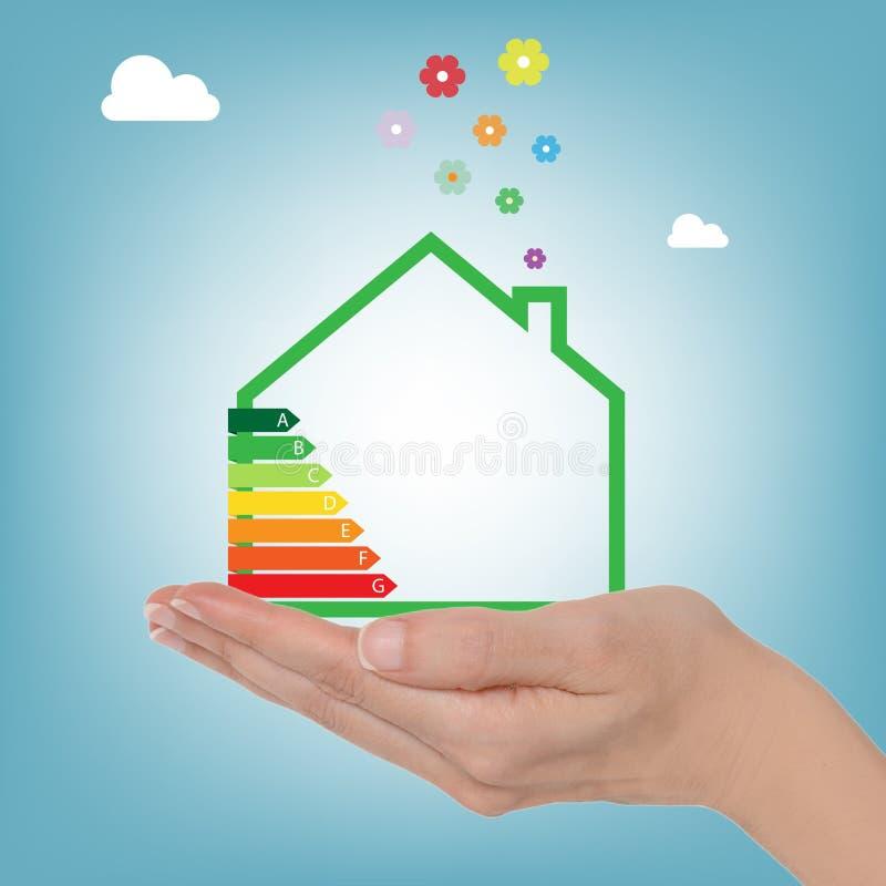 Valutazione della casa di energia illustrazione vettoriale