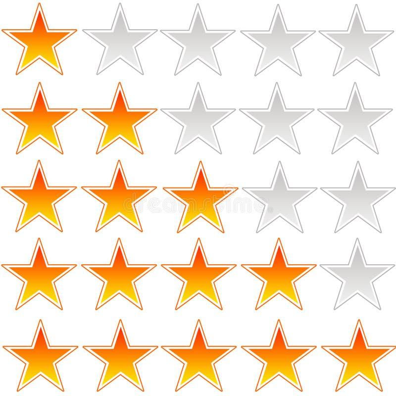 Valutazione della stella illustrazione vettoriale