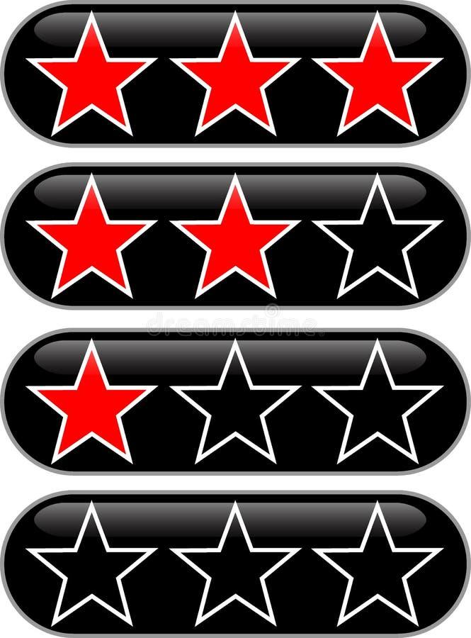 Valutazione delle stelle illustrazione vettoriale