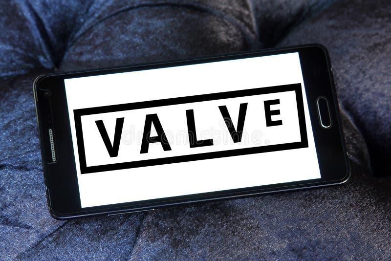 Valve Corporation logo. Logo of Valve Corporation on samsung mobile. Valve Corporation is an American video game developer and digital distribution company stock photos