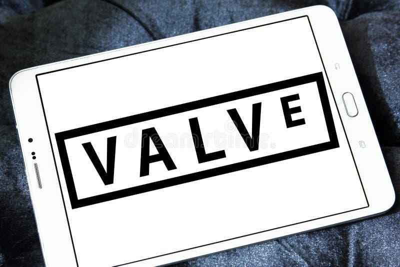 Valve Corporation logo. Logo of Valve Corporation on samsung tablet. Valve Corporation is an American video game developer and digital distribution company stock photos