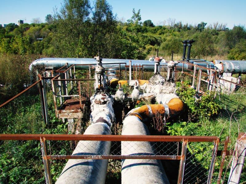 Valve de conduite d'eau images stock