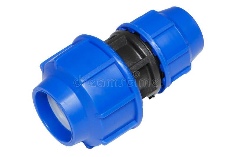 Valve en plastique de connexion de conduite d'eau en métal ou de PVC, mettant d'aplomb image stock