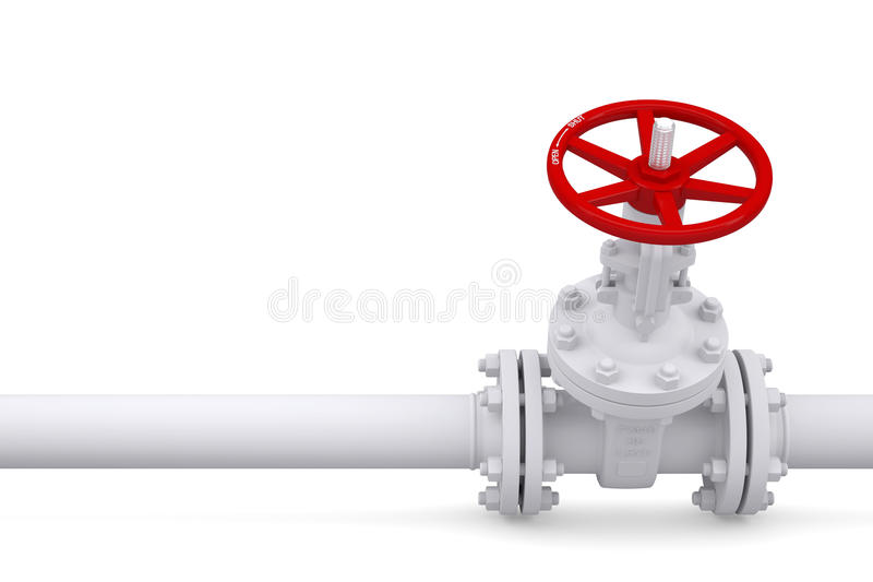 Valve On The Pipeline Stock Photography