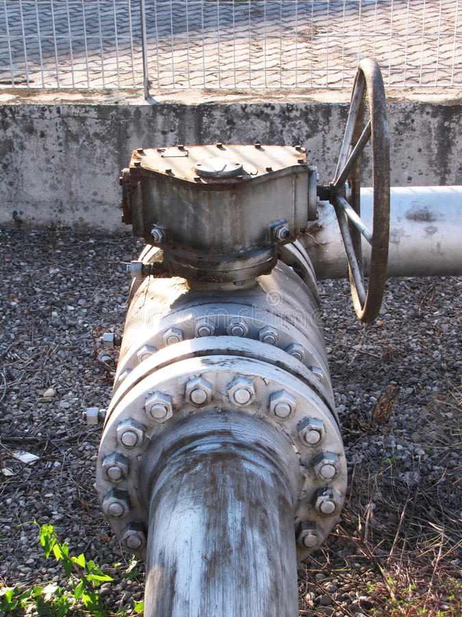 Valve at refinery plant royalty free stock photography