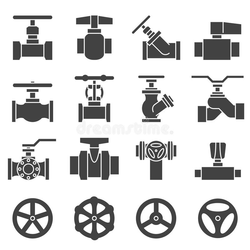 valve and taps icon set stock vector  illustration of
