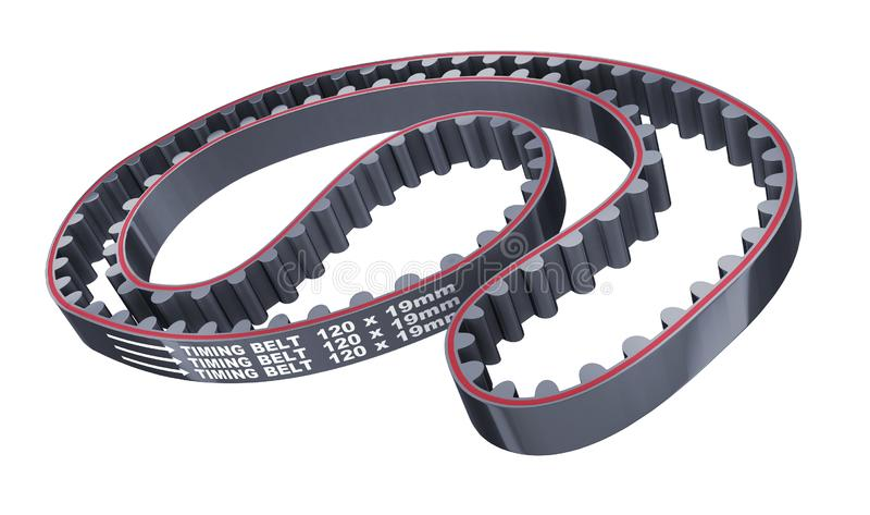 Valve timing belt car royalty free stock image