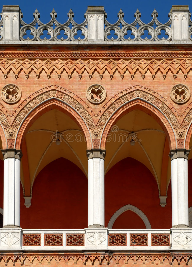 valvgång venetian padua royaltyfri foto