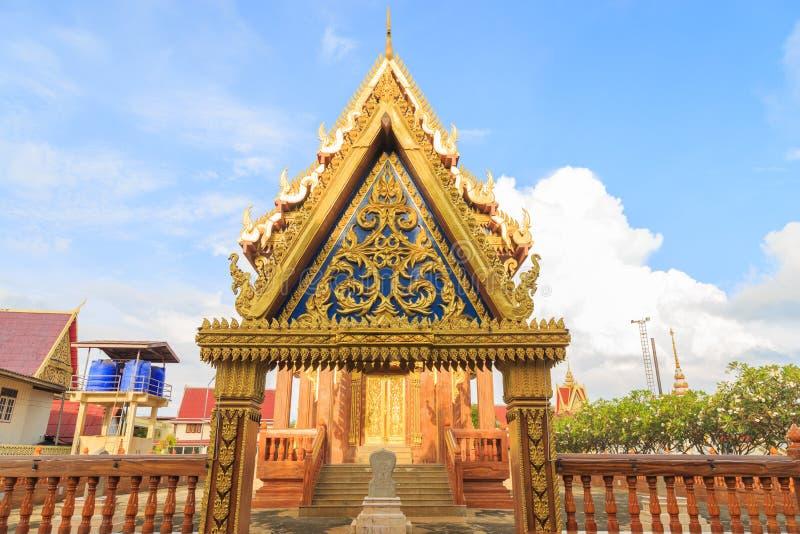 Valvgångkyrka av den buddistiska templet och invigd polisdistrikt av a arkivbilder