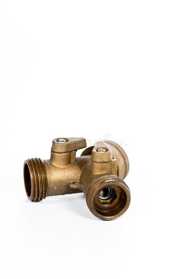 Valvola del tubo flessibile di giardino fotografie stock libere da diritti
