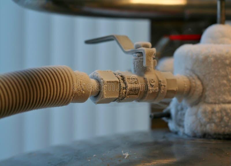 Valvola dell'azoto liquido fotografia stock libera da diritti