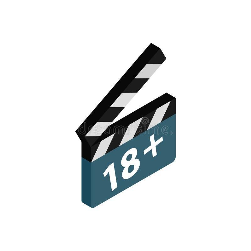 Valvola di film con l'icona più di tasso 18 illustrazione vettoriale