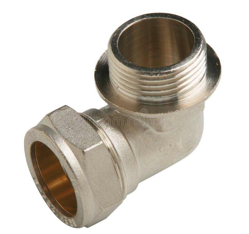 Valvola di plastica del collegamento di tubatura dell'acqua del PVC o del metallo, scandagliante fotografia stock
