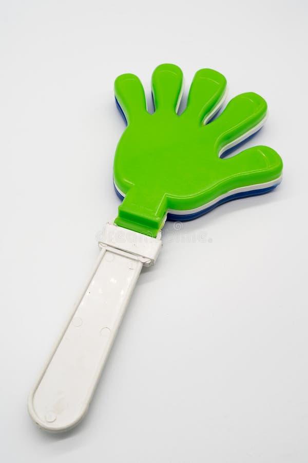 Valvola di plastica della mano del giocattolo fotografia stock libera da diritti