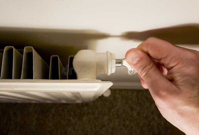 Valvola di scarico del radiatore immagine stock