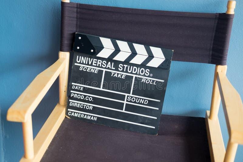 Valvola sulla sedia di direttore fotografia stock