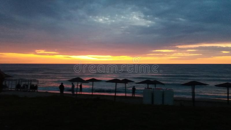 Vama veche sunny beach stock photo