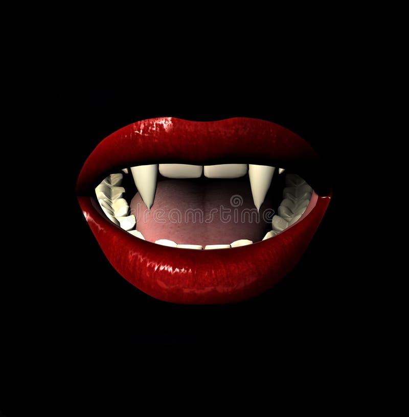 Vamp Lächeln lizenzfreie stockbilder