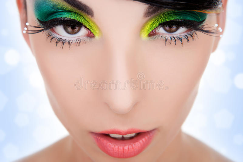 Vamp Look Of A Beautiful Woman Royalty Free Stock Photo