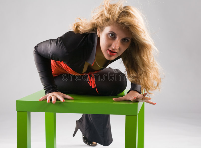 Download Vamp woman stock image. Image of eyes, green, clothes - 7198253