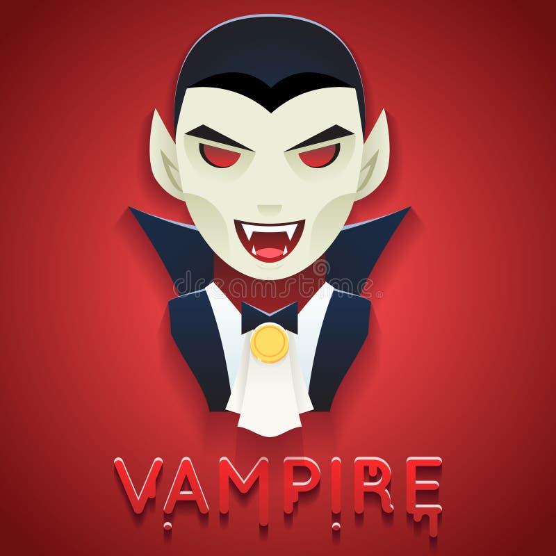 Vampieravatar van het de Mislukkingspictogram van het Rolkarakter de Partij het Modieuze van de van Achtergrond Halloween Malplaa royalty-vrije illustratie