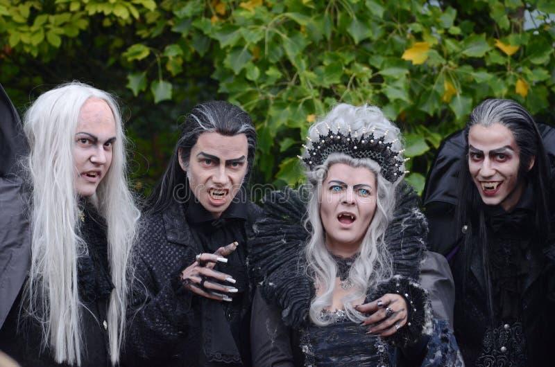 Vampieren Halloween stock foto's