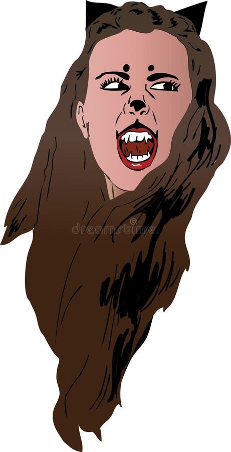 Vampir de Catwoman ilustração royalty free