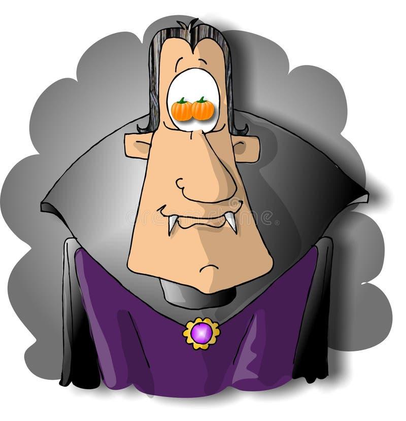 Download Vampir mit Kürbisaugen stock abbildung. Bild von dennis - 30599