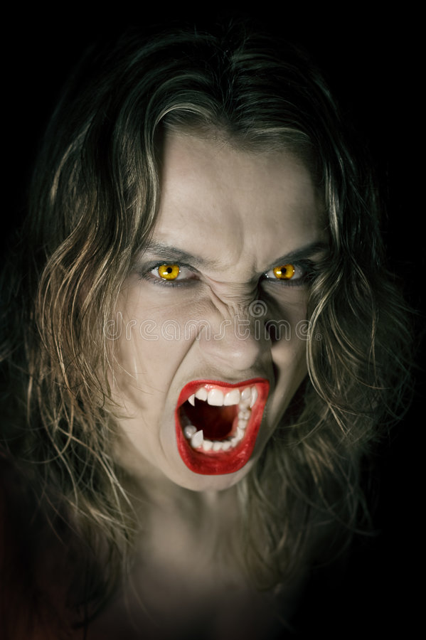 Vampirdame stockfotografie
