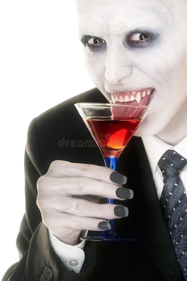 Vampire appréciant le sien boisson photographie stock libre de droits
