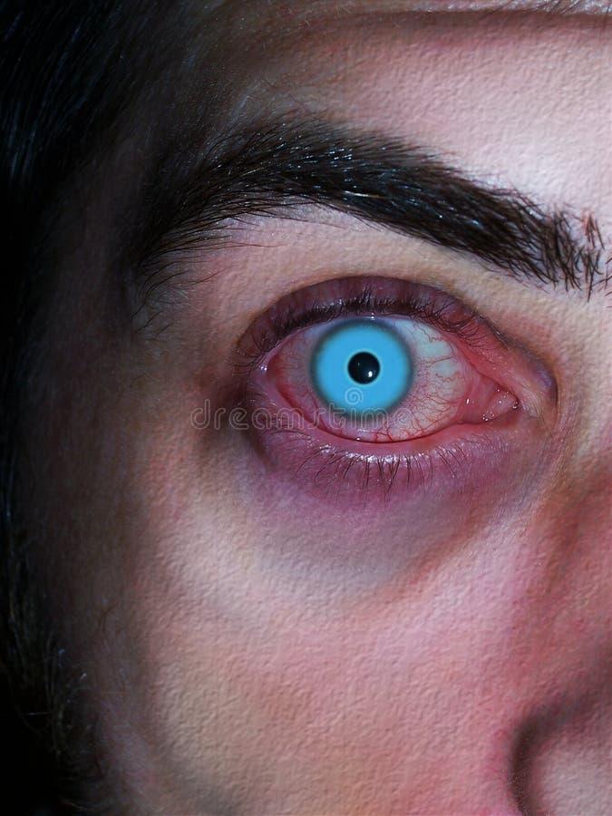Vampire aux yeux bleus images libres de droits