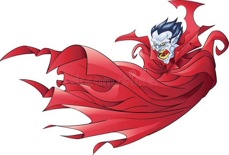 Vampire avec le cap illustration libre de droits