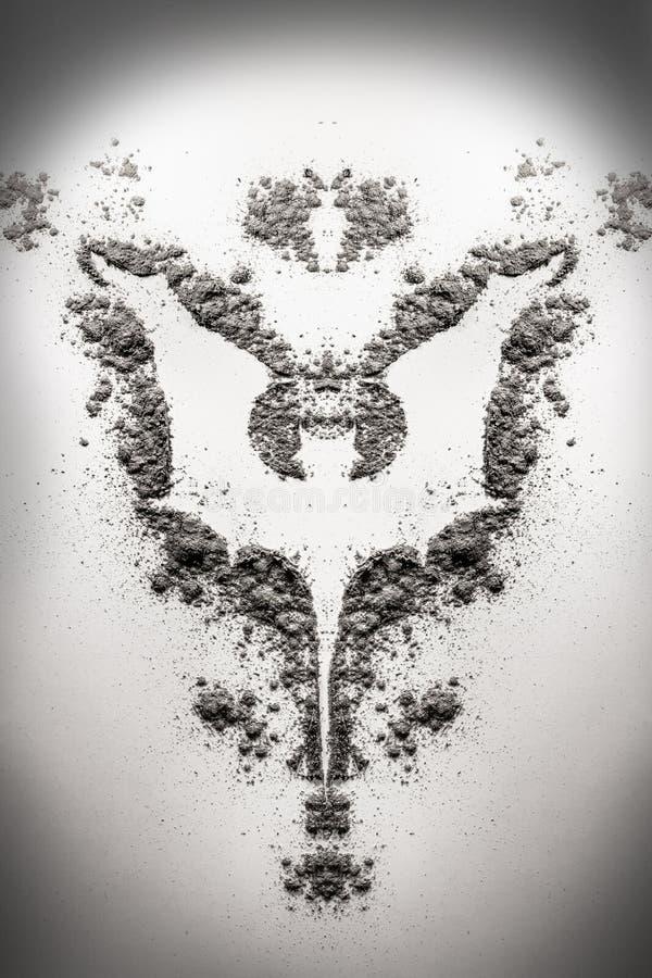 Vampire Bat Monster Symbol Illustration As Silhouette In Dust A