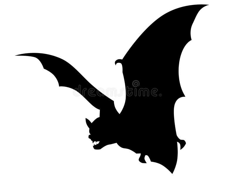 Vampire bat vector. Vampire bat, black vector illustration