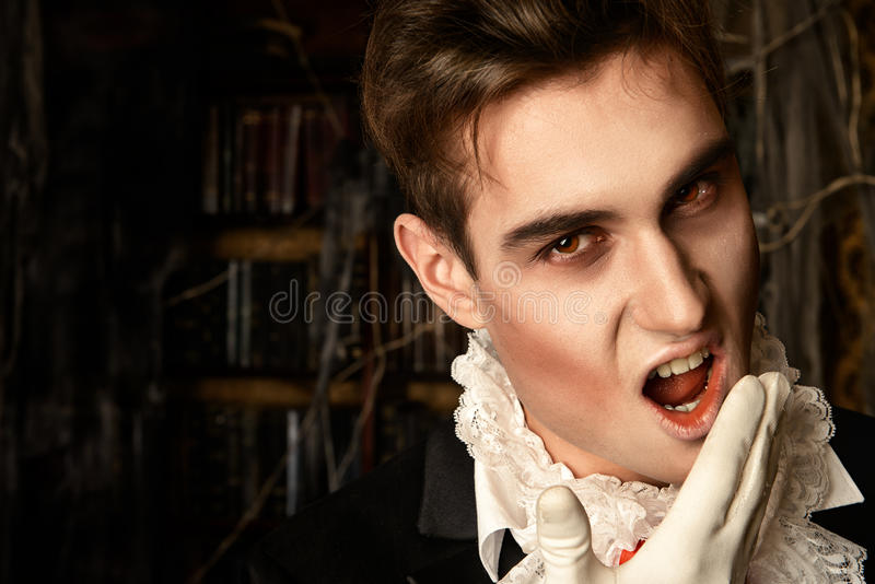 Vampire bites royalty free stock images