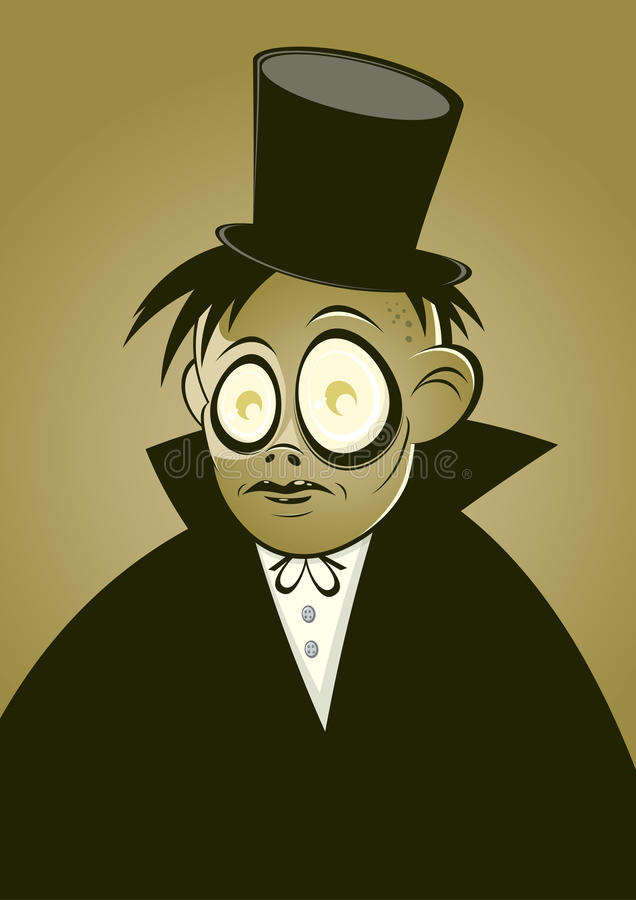 Vampire Character In Top Hat Royalty Free Stock Photography