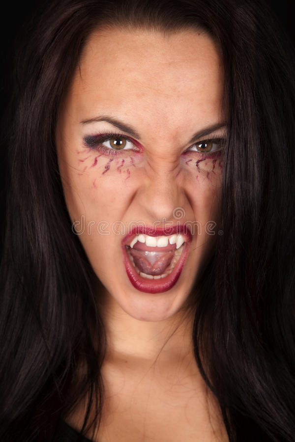 Download Vampire close fangs mean stock photo. Image of fear, goth - 34966178