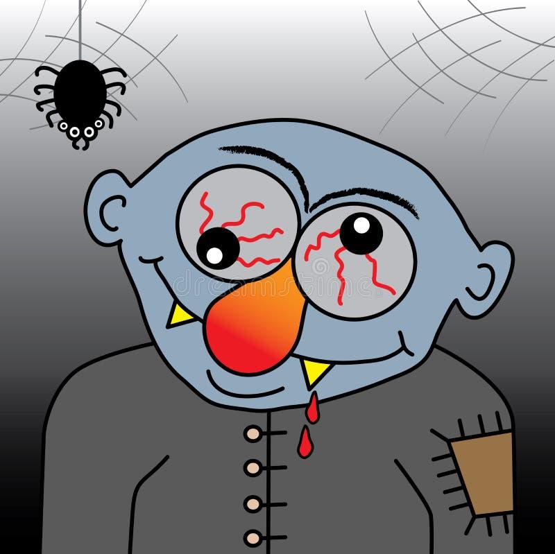 Vampire de dessin animé illustration libre de droits